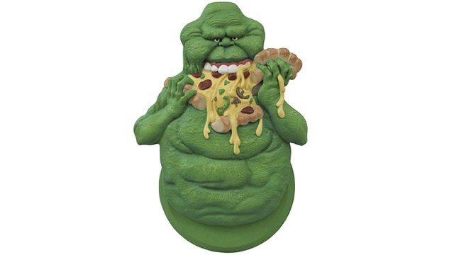 Ghostbusters Slimer pizza