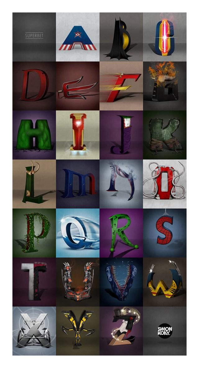 Alfabeto supereroi