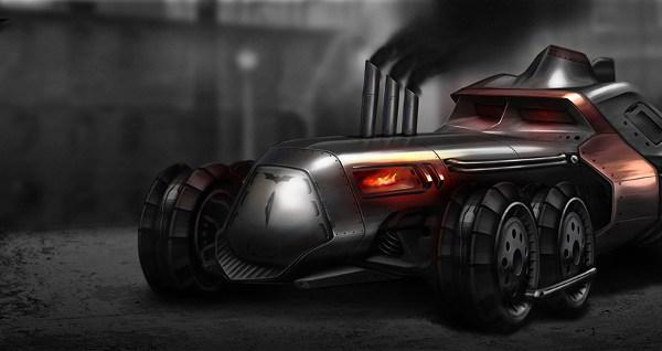 La Batmobile in chiave steampunk
