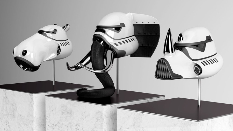 Blank William e i suoi design di animali a tema Star Wars