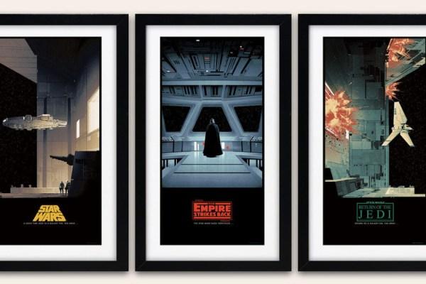 Sei stampe spettacolari della trilogia classica di Star Wars