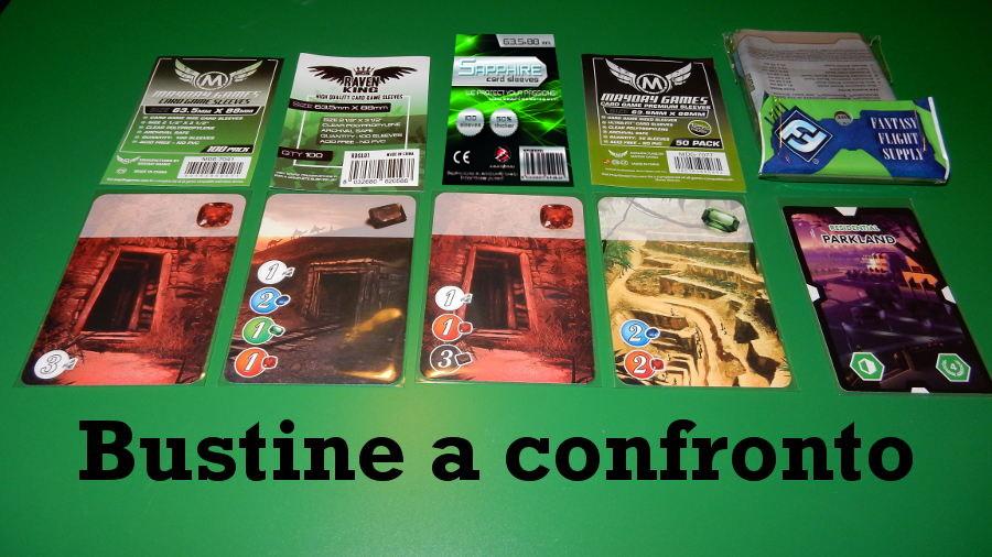 Bustine per giochi da tavolo: il confronto