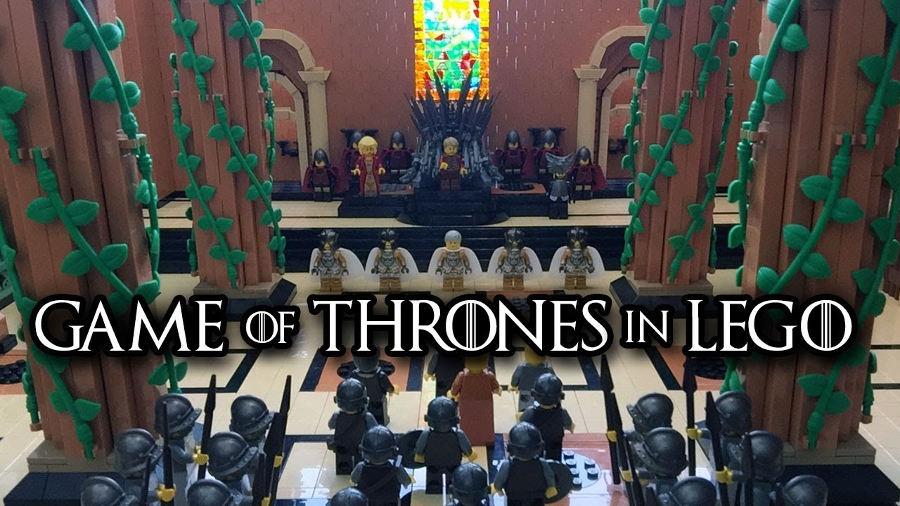 La sala del trono di Game of Thrones di Lego