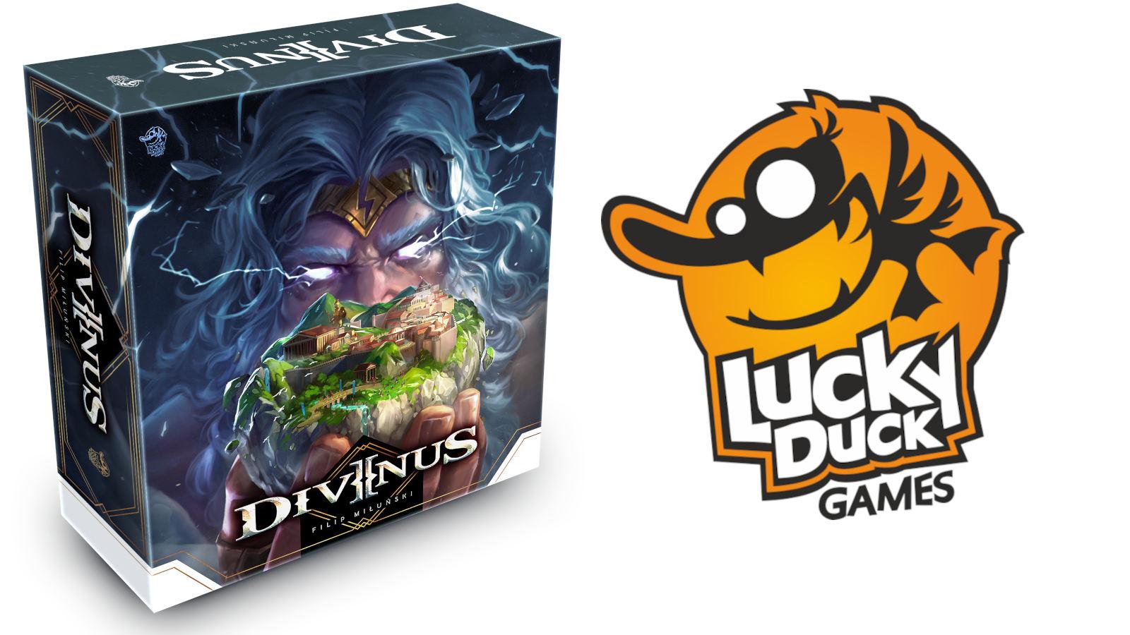 Lucky Duck presenta Divinus, un legacy ibrido con piazzamento tessere e manipolazione dadi!