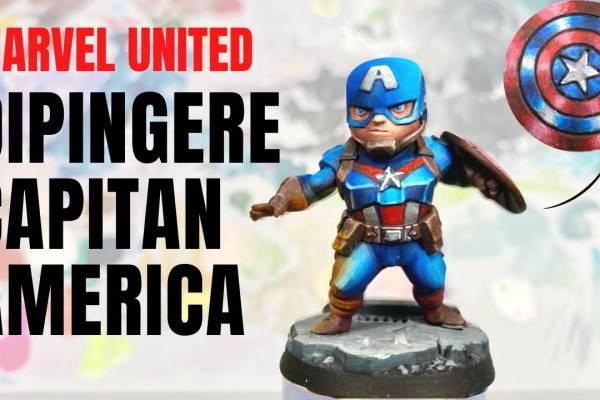 Kiki's Miniatures Mania – Come Dipingere Marvel United – Capitan America