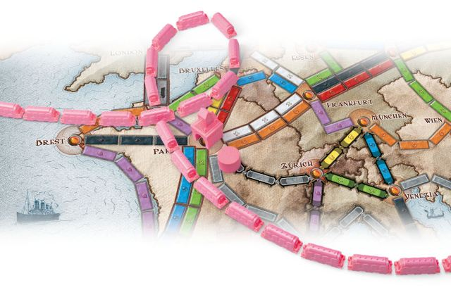 Ticket To Ride: Play Pink -  Ticket To Ride Europa