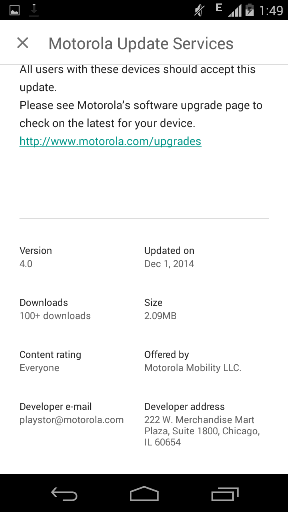 Updated framework for Moto G and Moto X