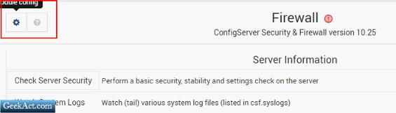 configuring csf virutalmin webmin