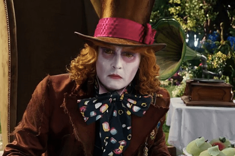 Depp is off his game as the Hatter.