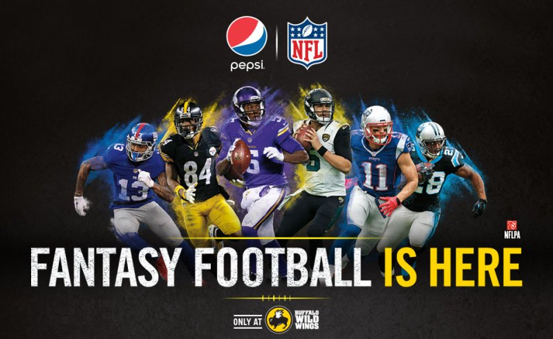 NFL, Pepsi, AND Buffalo Wild Wings? Who WOULDN'T want to play Fantasy Football?