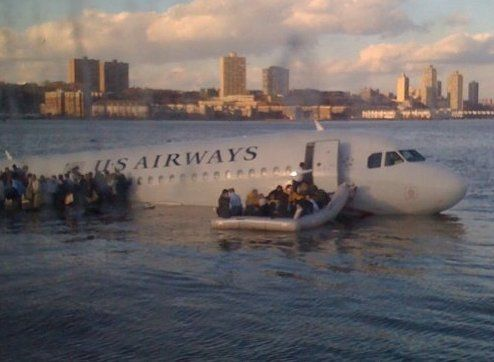 US Airways 320 in the Hudson River