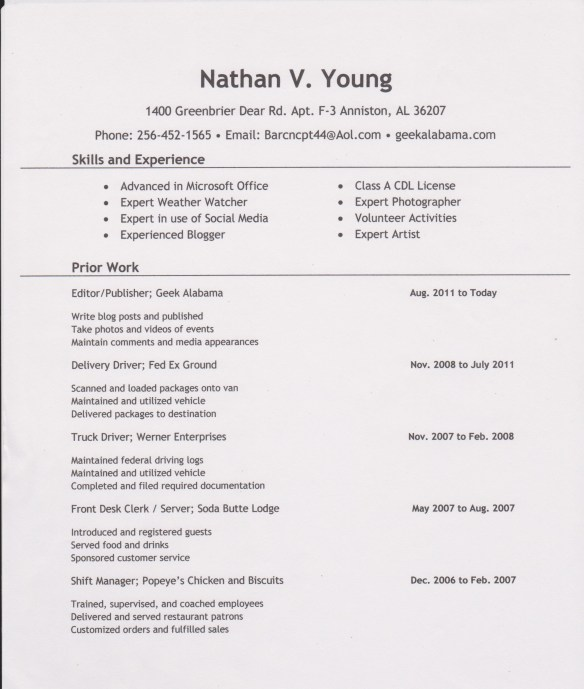 resume 001
