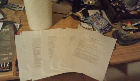 My diagnosis papers.