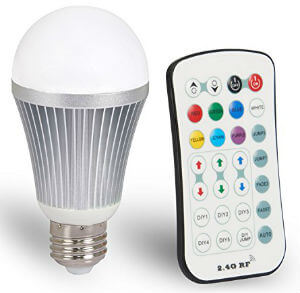 Coidak CO801-1 E27 12W 24G Wireless RGBW LED Light Color Changing Lamp Bulb AC 85-265V with Remote