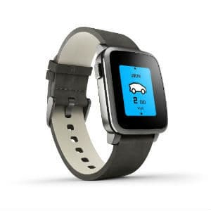 Pebble Time Steel Smartwatch for Apple and Android Devices