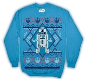 Men's Disney Star Wars R2D2 Ugly Sweater Christmas Edition Crewneck Sweatshirt