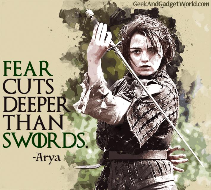 Arya Stark Game of Thrones Quote