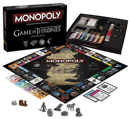 1 Monopoly Game Of Thrones Collector's Edition Board Game