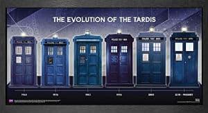 Doctor Who Evolution Of The TARDIS Framed Poster Print