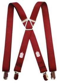 Doctor Who TARDIS Burgundy Suspenders