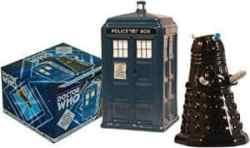 Dr. Who TARDIS V. Dalek Salt And Pepper Shaker