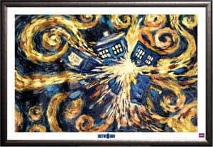 Framed Doctor Who Exploding TARDIS Poster