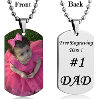 Personalized Custom Photo Color Dog Tag