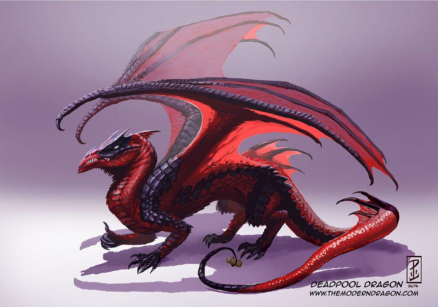 Purple Dragon Blue Wings