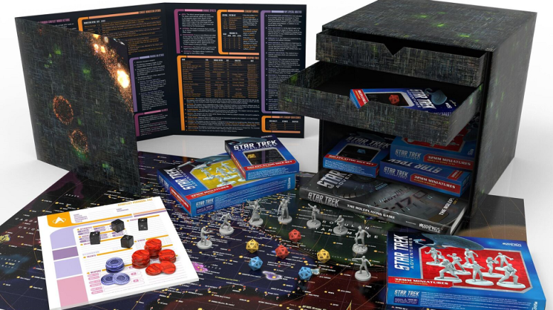 June 2017 Detail Star Trek Adventures RPG Borg cube set G & T Show