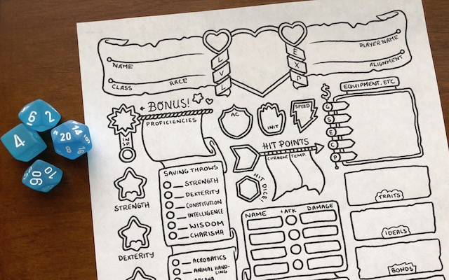 Image result for character sheet