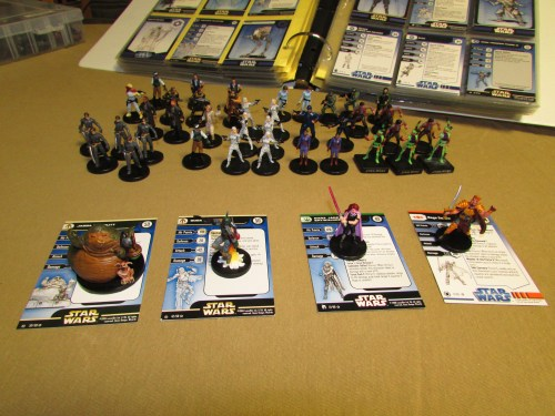 Very Rare Star Wars Miniatures with stat cards