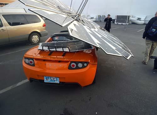 A solar powered Lotus