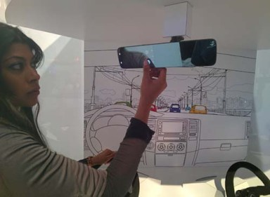 Rear view mirror with Android inside