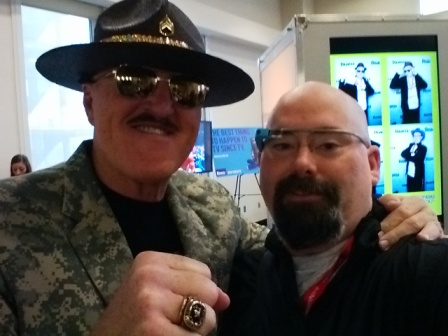 Sgt Slaughter and I at the Roku Lounge