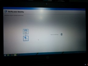 HP Elitebook 1040 Folio G1 security screen