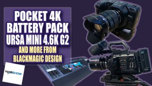 Blackmagic Design Shows off Pocket Cinema 4k Battery Grip, URSA Mini Pro 4.6k G2, and More
