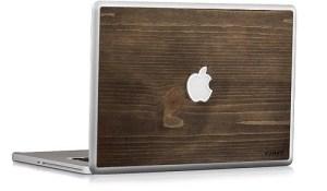 Skin de MacBook en bois pour geek