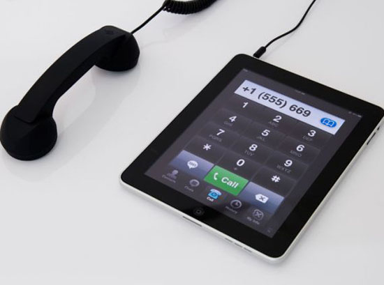 combiné téléphonique iPad