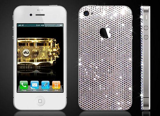 Caisson iPhone 4 en cristaux Swarovski