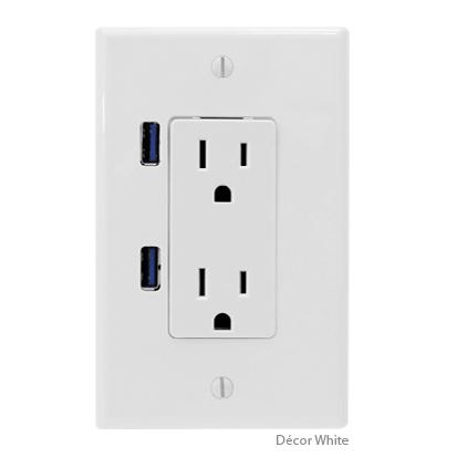 Prise électrique avec port USB