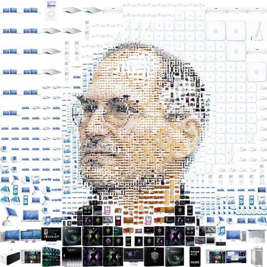 Mosaique de Steve Jobs