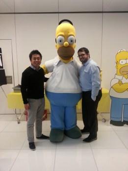 Geekbecois lors du 500e épisode des Simpsons