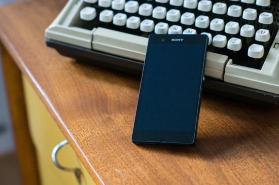 Aussi élégant que rectangulaire, l'Xperia Z est un bel objet même lorsqu'éteint.