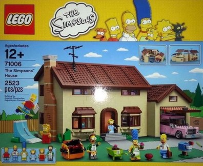 The Simpsons LEGO box - Front