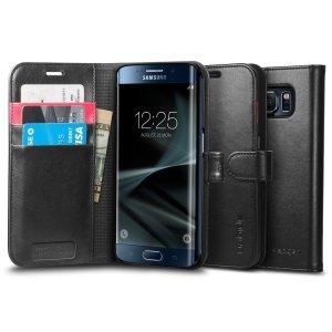 Etui style porte-feuille pour Galaxy S7 Edge
