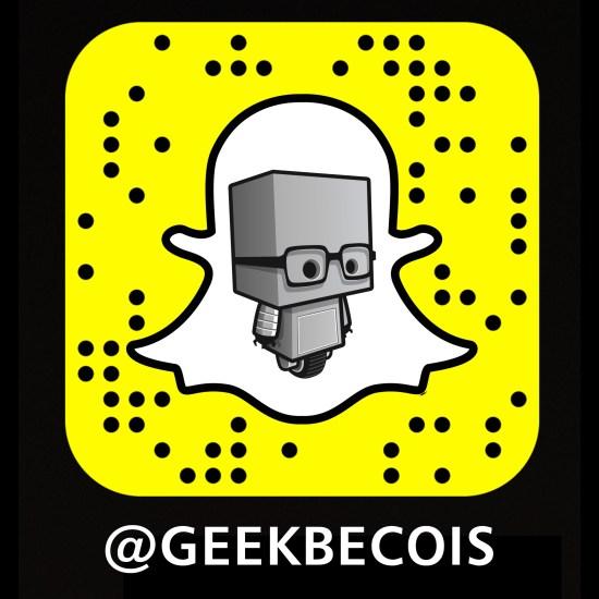 Compte Snapchat de Geekbecois