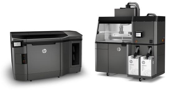 les deux versions de l'imprimante (gracieuseté de HP)   HP impression 3D