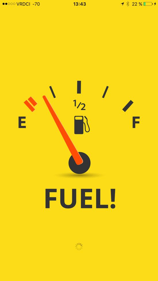 Capture d'écran de l'application Fuel !