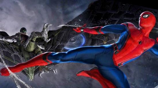 Un apercu d'un affrontement en Spider-Man et Vulture (Michael Keaton)