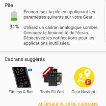 Tableau de bord | Samsung Gear App